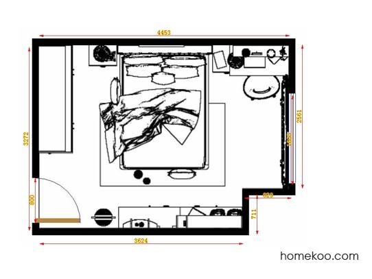 平面布置图格瑞丝系列卧房A14288