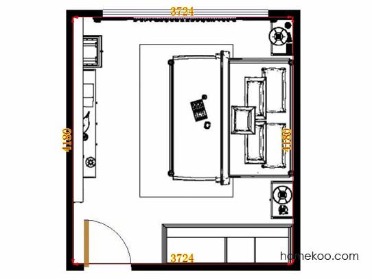 平面布置图斯玛特系列卧房A14299