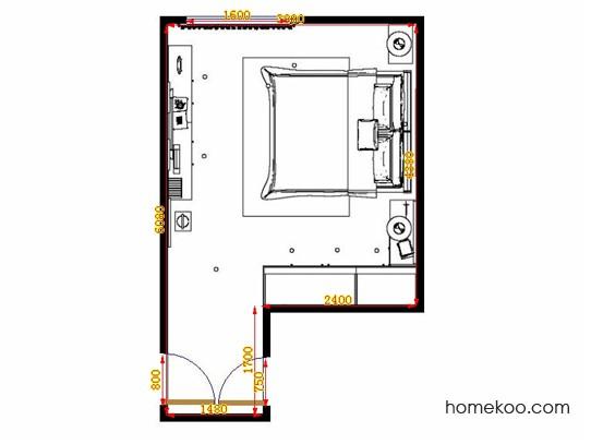 平面布置图柏俪兹系列卧房A14301