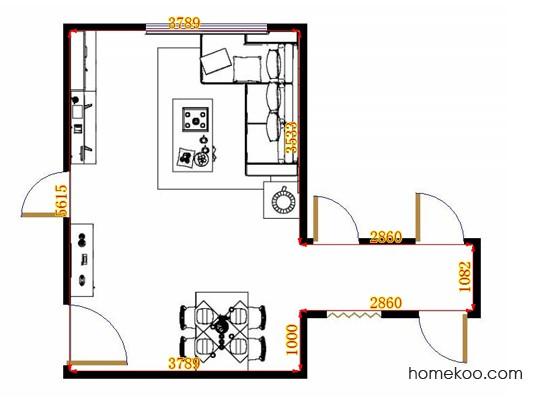 平面布置图格瑞丝系列客餐厅G14360