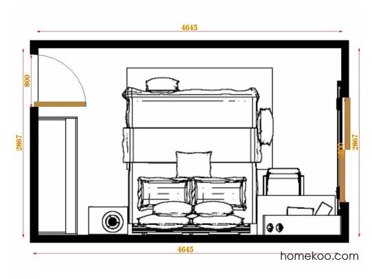 平面布置图乐维斯系列卧房A14309