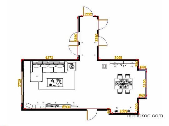 平面布置图乐维斯系列客餐厅G14364