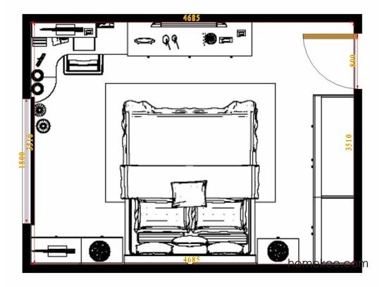 平面布置图乐维斯系列卧房A14311