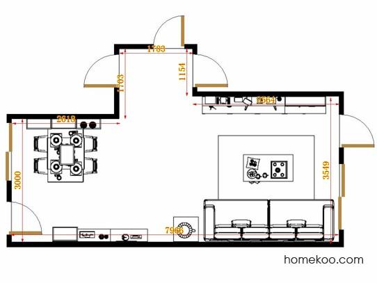 平面布置图格瑞丝系列客餐厅G14373