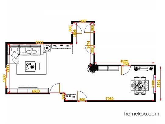 平面布置图斯玛特系列客餐厅G14380