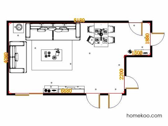 平面布置图德丽卡系列客餐厅G14386