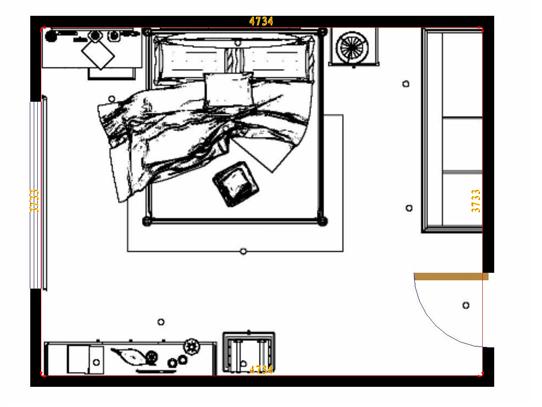 平面布置图乐维斯系列卧房A14383