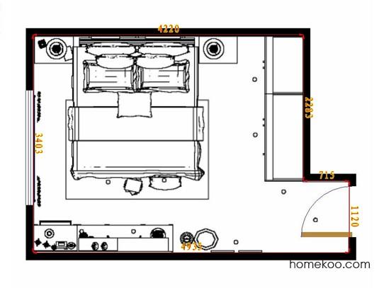 平面布置图柏俪兹系列卧房A14417