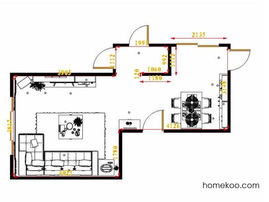 平面布置图贝斯特系列客餐厅G14524