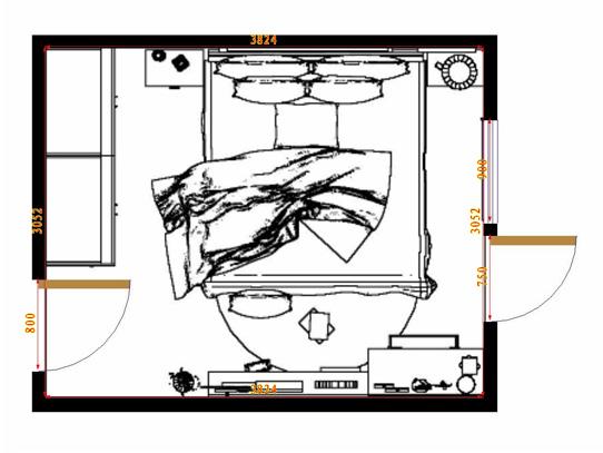 平面布置图柏俪兹系列卧房A14425