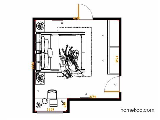 平面布置图斯玛特系列卧房A14429