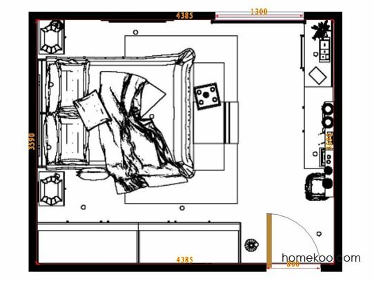 平面布置图德丽卡系列卧房A14438