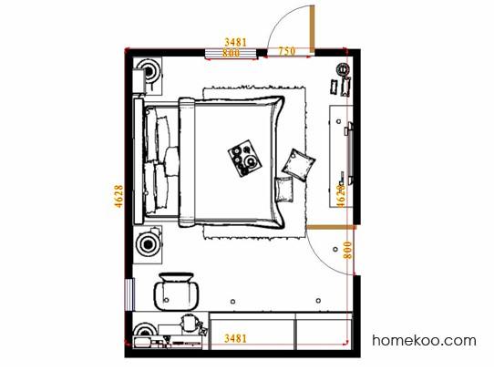平面布置图斯玛特系列卧房A14459