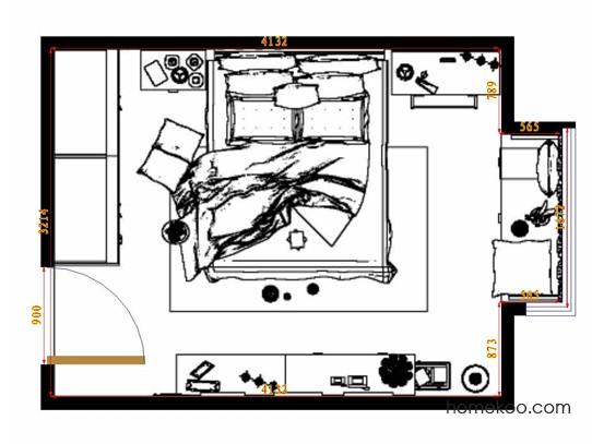 平面布置图贝斯特系列卧房A14470