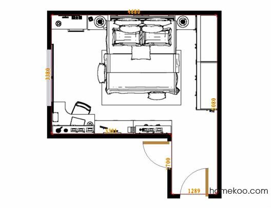 平面布置图柏俪兹系列卧房A14475