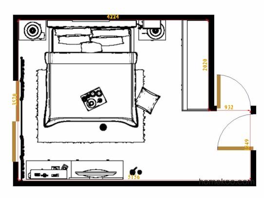 平面布置图柏俪兹系列卧房A14490