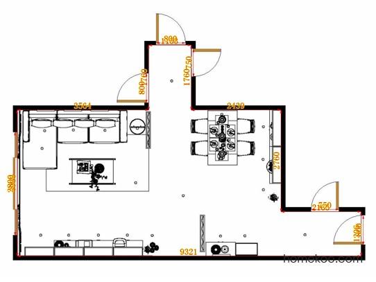 平面布置图斯玛特系列客餐厅G14602