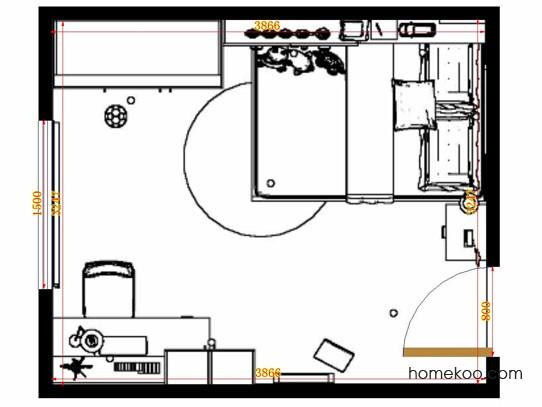 平面布置图柏俪兹系列青少年房B12465