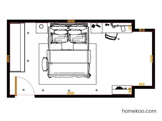 平面布置图格瑞丝系列卧房A14581