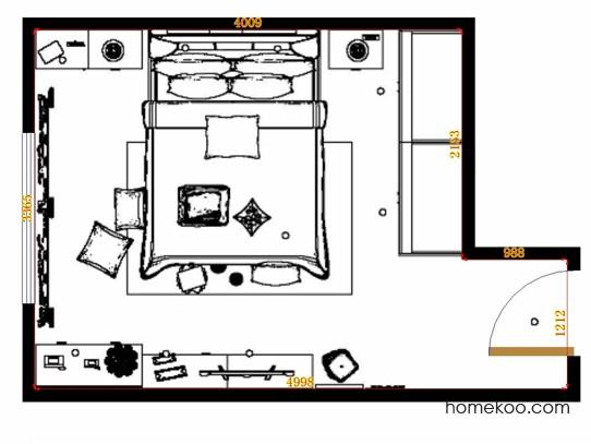 平面布置图德丽卡系列卧房A14587