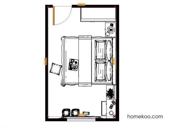 平面布置图乐维斯系列卧房A14590