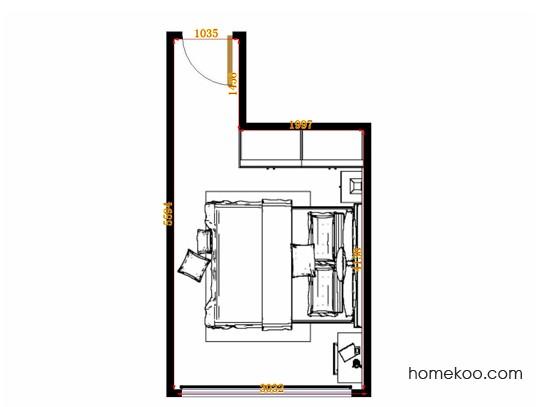 平面布置图斯玛特系列卧房A14598