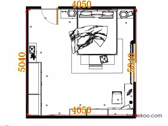 平面布置图格瑞丝系列卧房A14599
