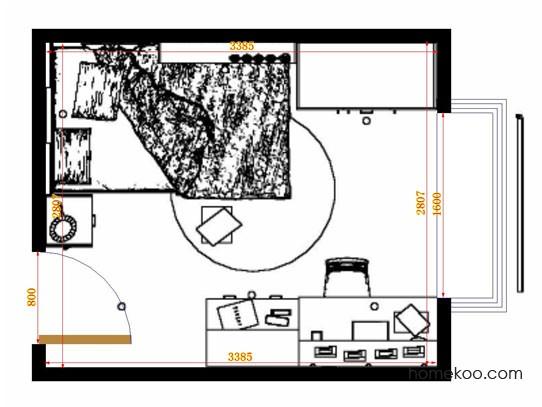平面布置图斯玛特系列青少年房B12480