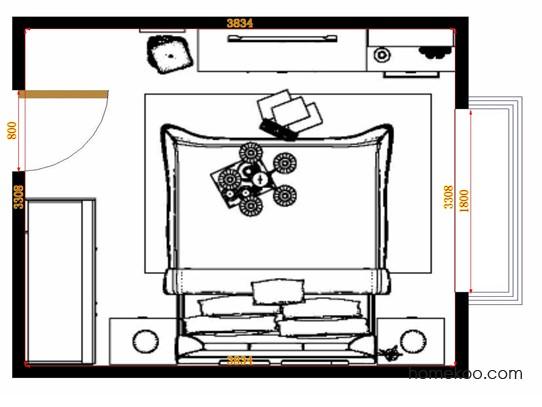 平面布置图斯玛特系列卧房A14600
