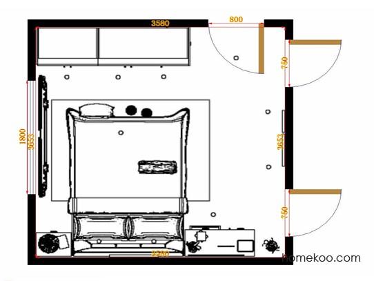 平面布置图斯玛特系列卧房A14605