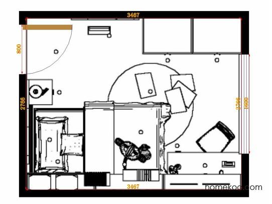 平面布置图贝斯特系列青少年房B12484