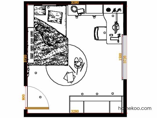 平面布置图斯玛特系列青少年房B12485