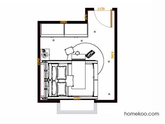 平面布置图斯玛特系列卧房A14608