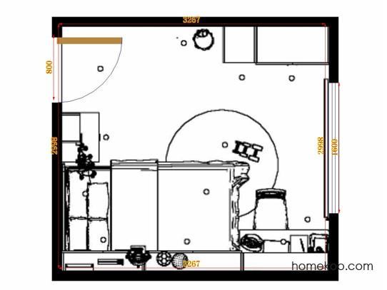 平面布置图乐维斯系列青少年房B12487