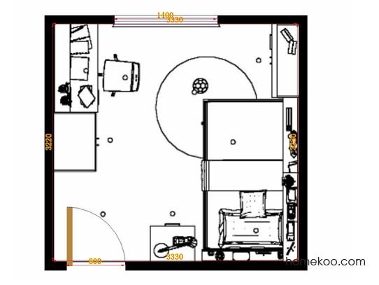 平面布置图贝斯特系列青少年房B12492