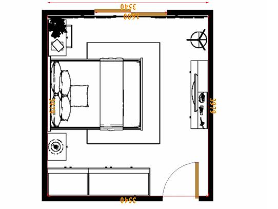平面布置图乐维斯系列卧房A14610
