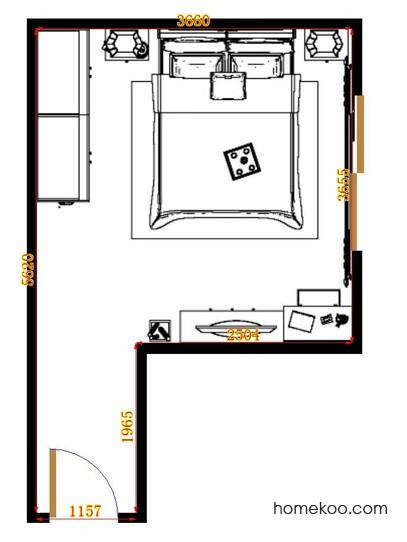 平面布置图斯玛特系列卧房A14612