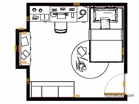平面布置图斯玛特系列青少年房B12498