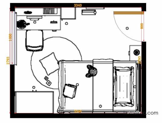 平面布置图贝斯特系列青少年房B12505