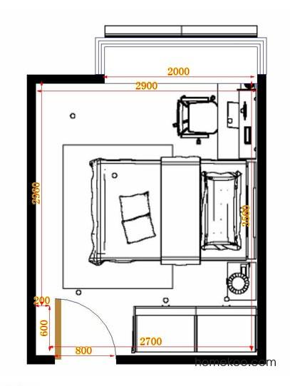 平面布置图柏俪兹系列青少年房B12506