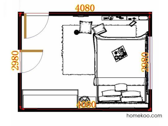 平面布置图斯玛特系列卧房A14619