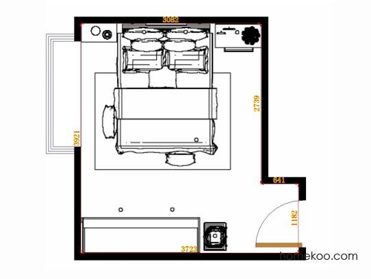 平面布置图斯玛特系列卧房A14620