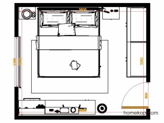 平面布置图柏俪兹系列卧房A14645