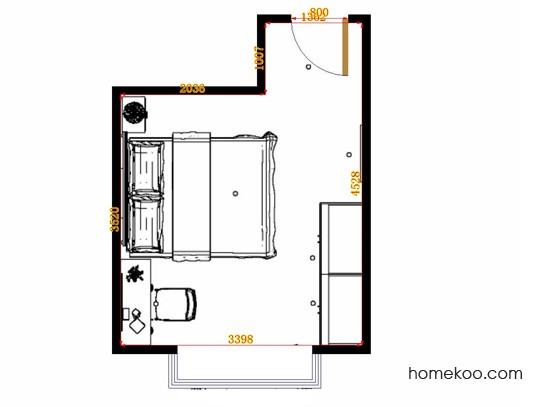 平面布置图斯玛特系列卧房A14657