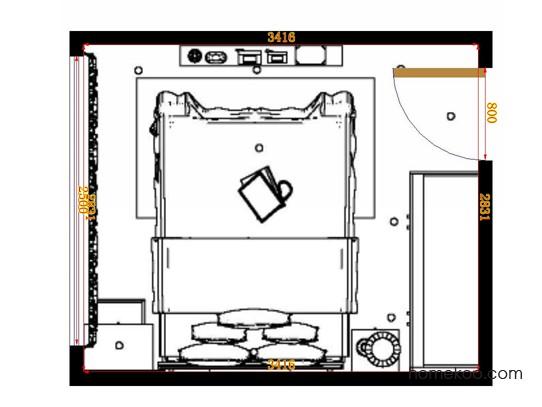 平面布置图格瑞丝系列卧房A14654