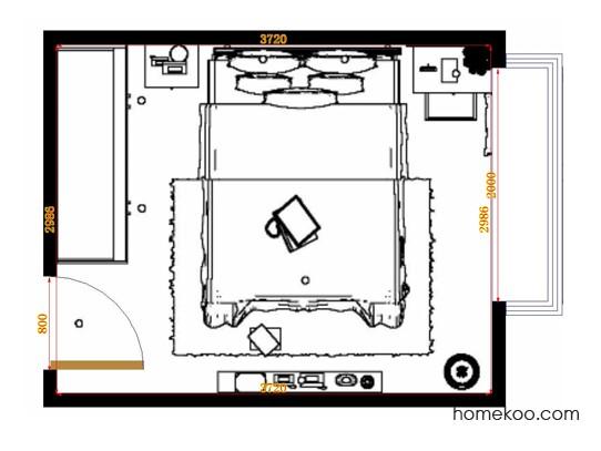 平面布置图乐维斯系列卧房A14655