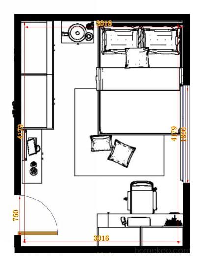 平面布置图柏俪兹系列卧房A14656
