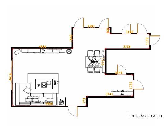 平面布置图乐维斯系列客餐厅G14715