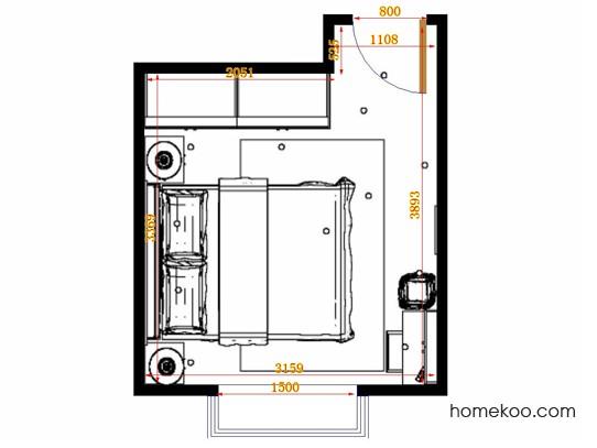 平面布置图柏俪兹系列卧房A14677