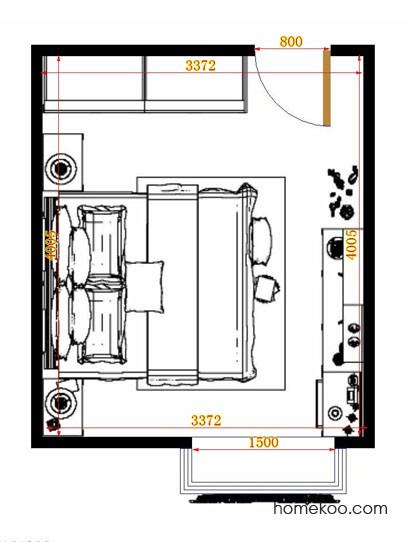 平面布置图格瑞丝系列卧房A14702
